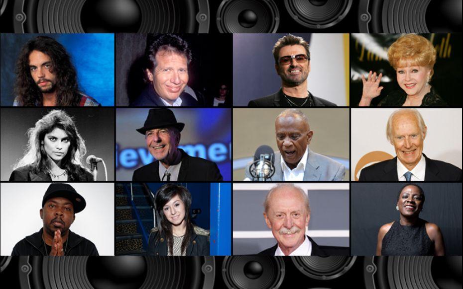 Algunos de los homenajeados en los premios Grammy 2017.