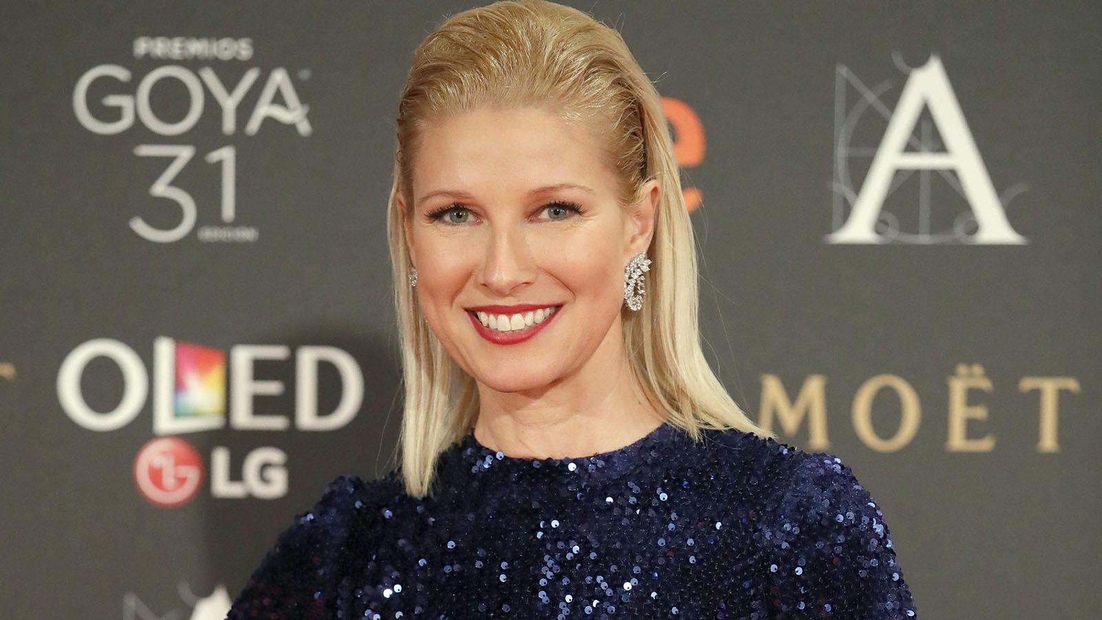 La presentadora Anne Igartiburu llevaba joyas de los Goya de Suárez, según la Academia.