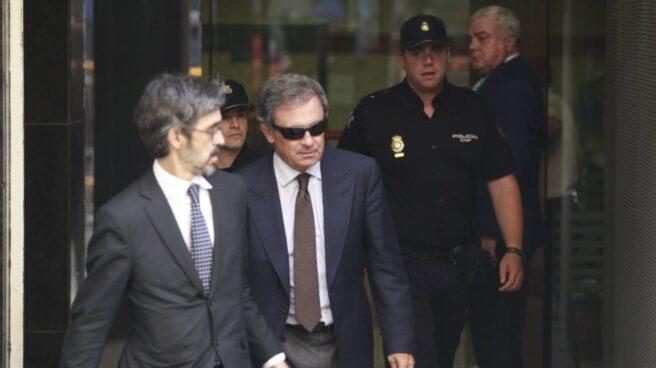 Jordi Pujol Ferrusola, tras declarar ante el juez.