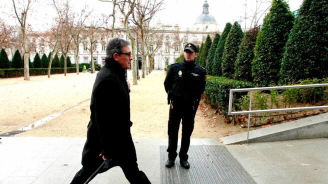 Jordi Pujol Ferrusola, dirigiéndose a declarar a la Audiencia Nacional.