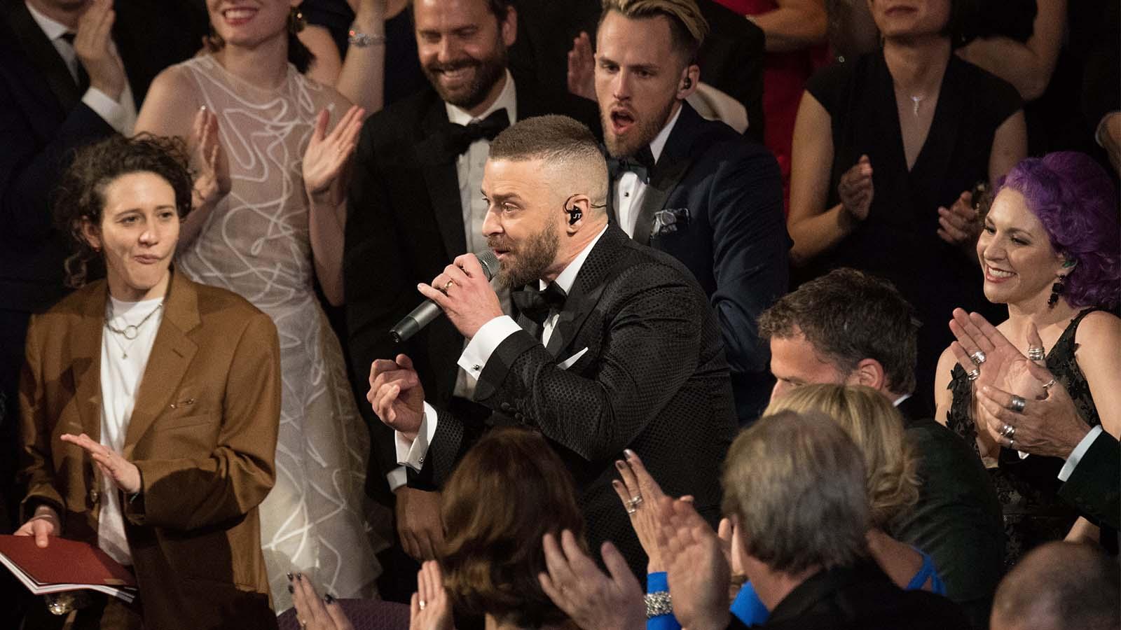 Justin Timberlake puso en pie a todos los famosos en la