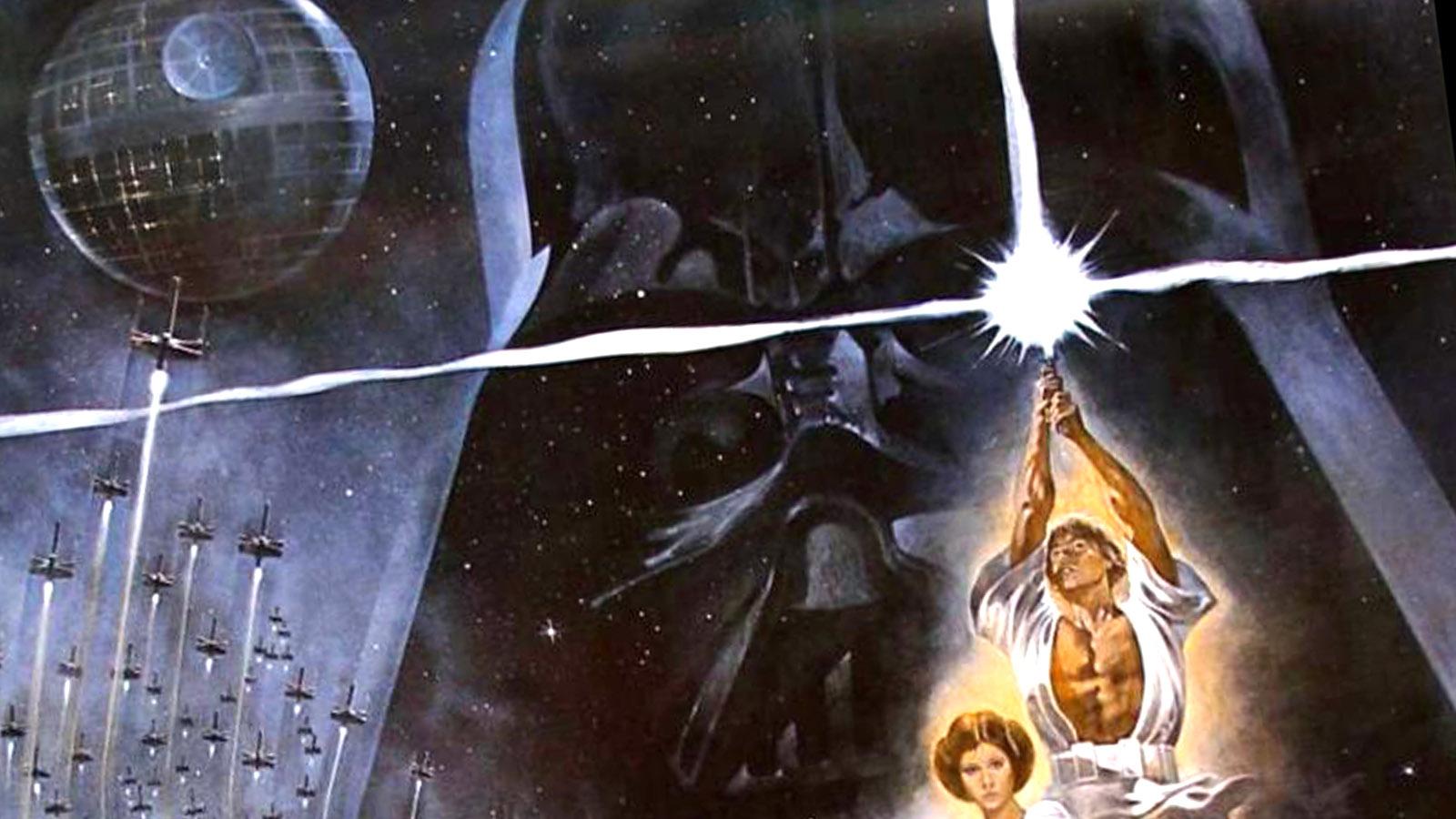 Detalle del cartel de 'La Guerra de las Galaxias'.