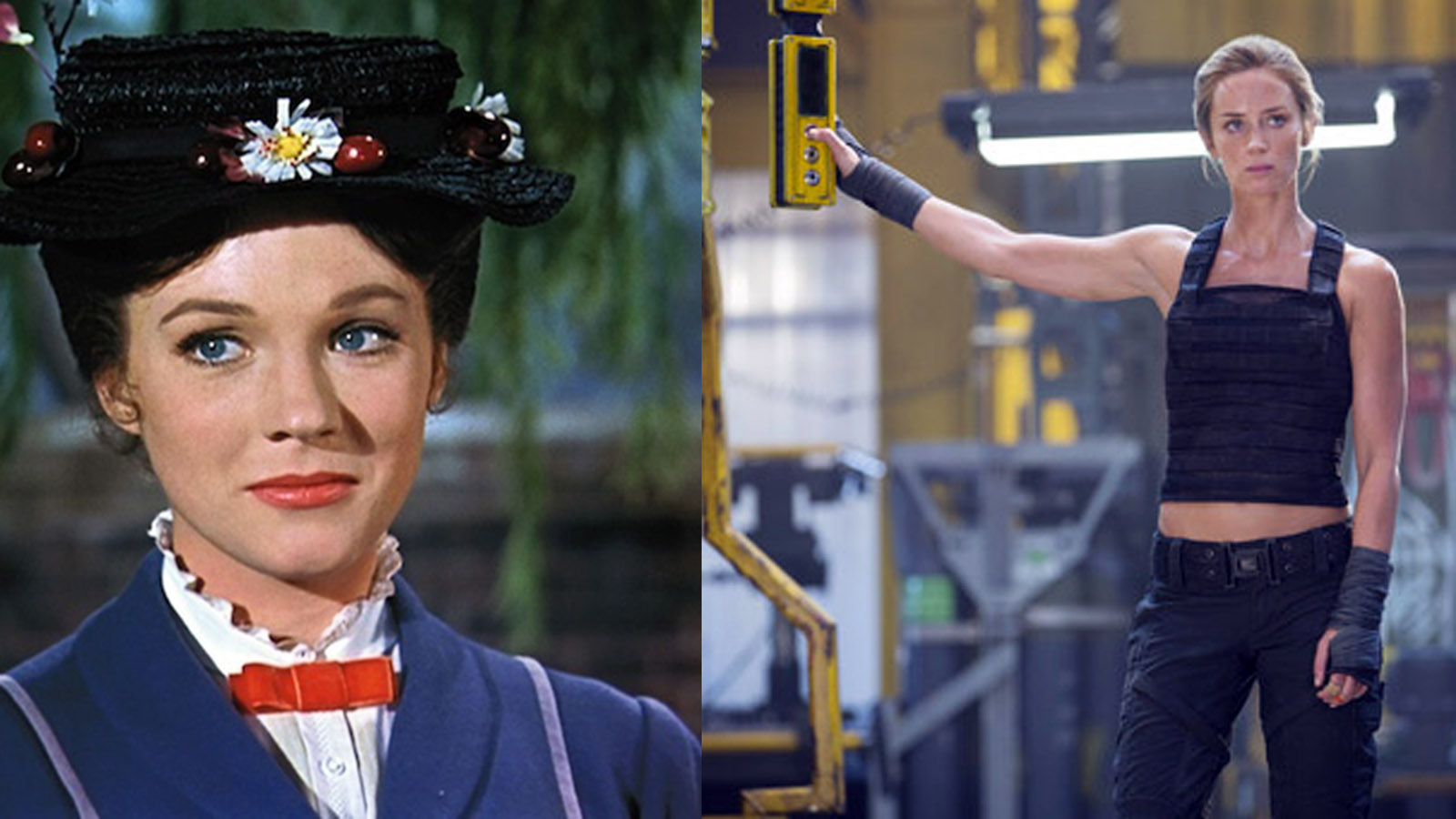 La dos Mary Poppins, Julie Andrews y Emily Blunt.