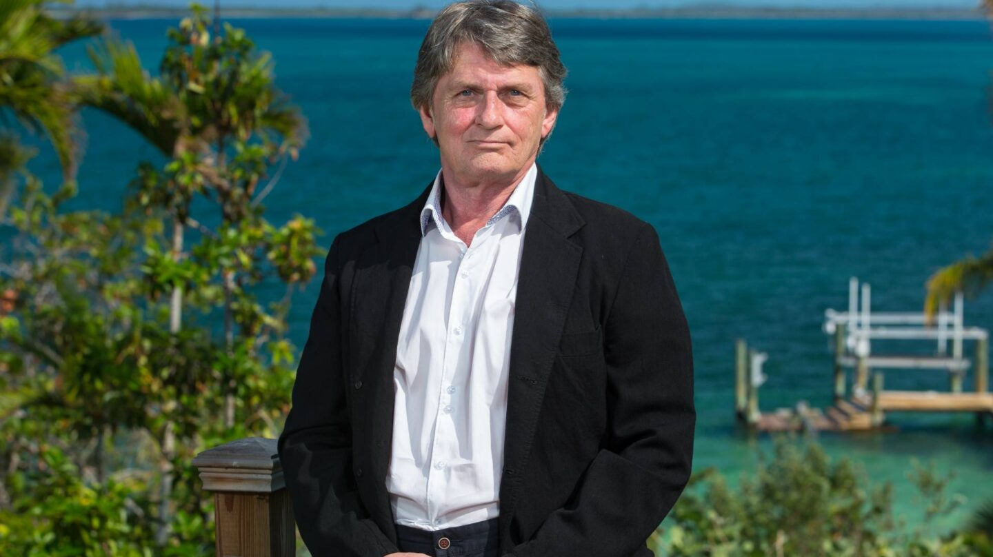 Mike Oldfield en Bahamas.