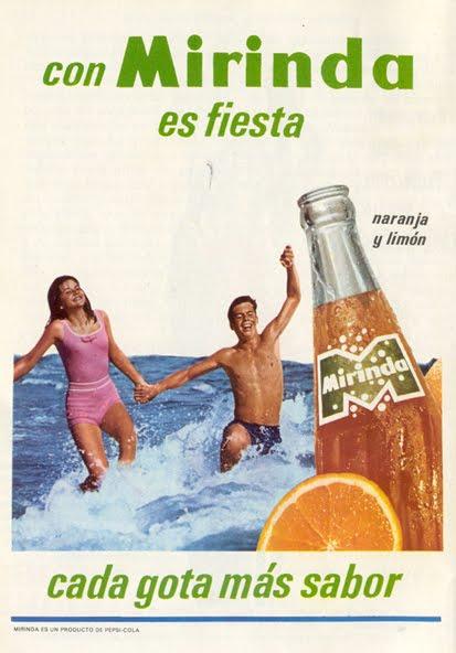 Antiguo cartel publicitario de Mirinda.