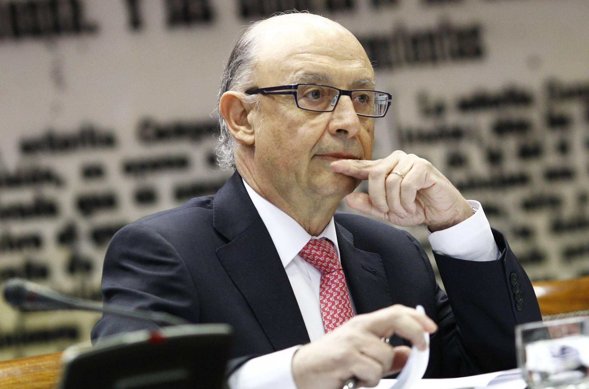 El ministro de Hacienda, Cristóbal Montoro, durante una comparecencia en el Senado.