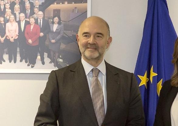 El Comisario Europeo de Asuntos Económicos y Monetarios, Pierre Moscovici,.