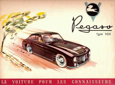 Antiguo publicitario de Pegaso, publicado en Francia.