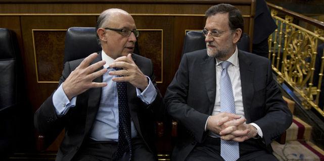 Cristóbal Montoro y Mariano Rajoy