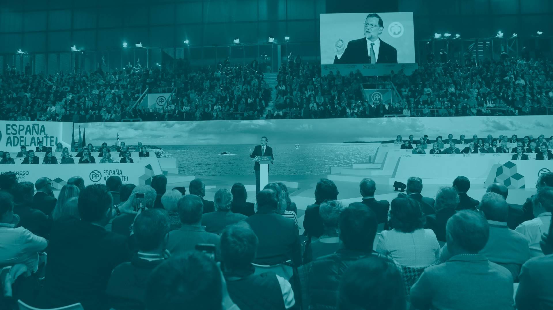 Mariano Rajoy, durante su intervención en el Congreso del PP.