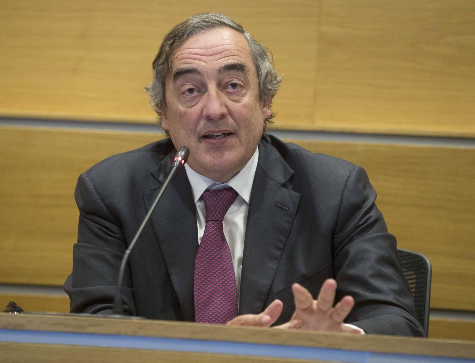Juan Rosell, presidente de la CEOE, que respalda la aplicación del artículo 155.