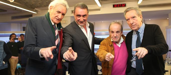 Luis del Olmo, Carlos Herrera, José María García e Iñaki Gabilondo.