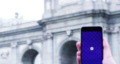 La aplicación de Uber, en el smartphone de un usuario en Madrid.
