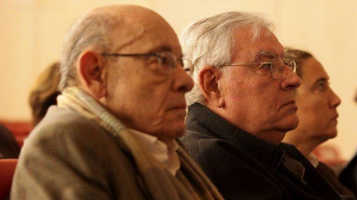 El expresidente del Palau de la Música, Félix Millet (i), junto al exdirector administrativo del Palau de la Música, Jordi Montull.