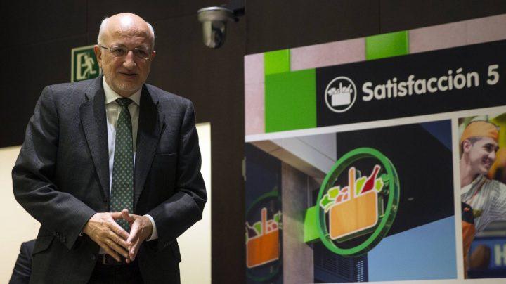 Juan Roig, presidente de Mercadona, en la presentación de los resultados.