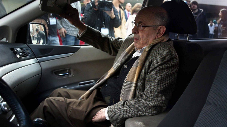 Félix Millet, tras declarar en una de las sesiones del juicio del caso Palau.