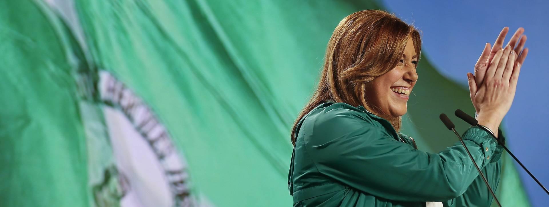 Susana Díaz, durante el acto del Día de Andalucía.