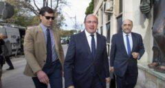Pedro Antonio Sánchez, a su llegada al juzgado en Murcia.