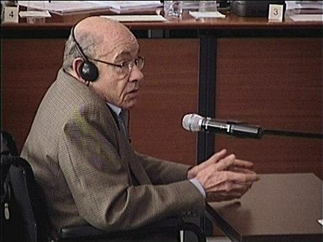 Fèlix Millet, durante una de sus declaraciones durante el juicio del caso Palau.