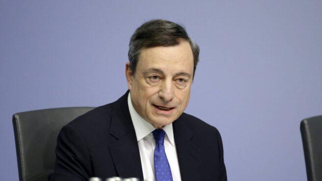 El presidente del Banco Central Europeo, Mario Draghi, en la sede de la institución, en Fráncfort.