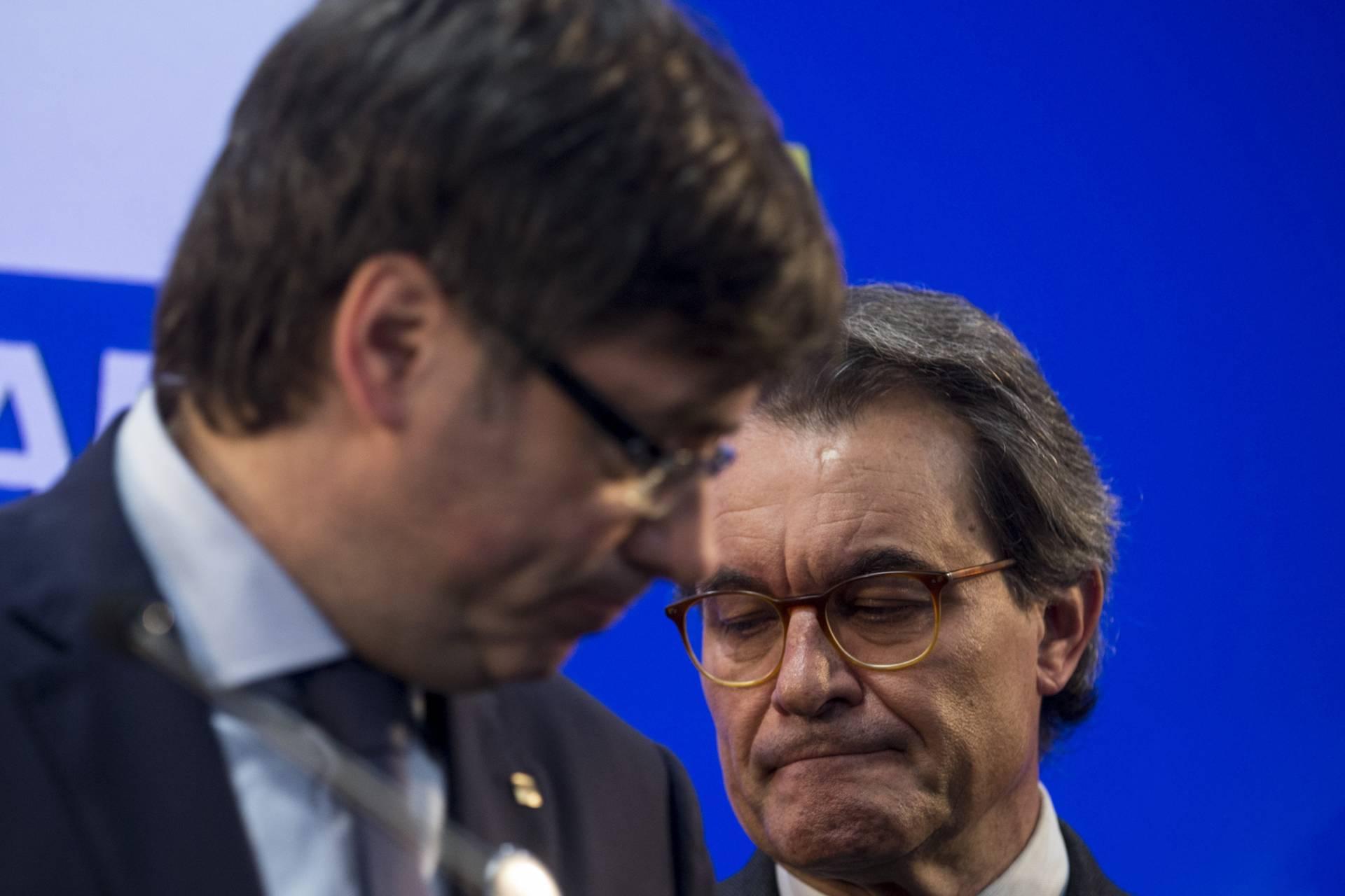 Puigdemont y Mas