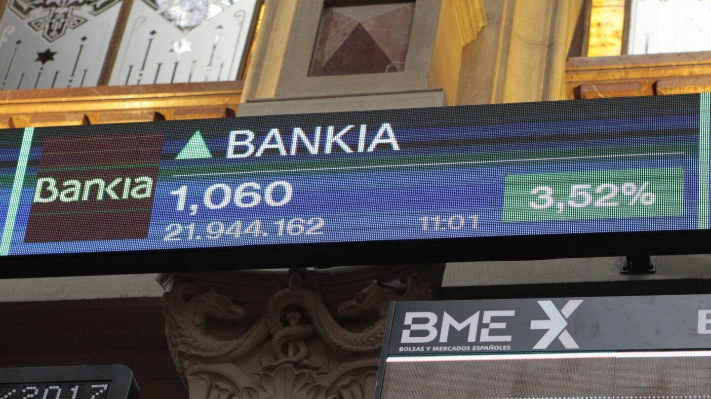 Bankia en la Bolsa.
