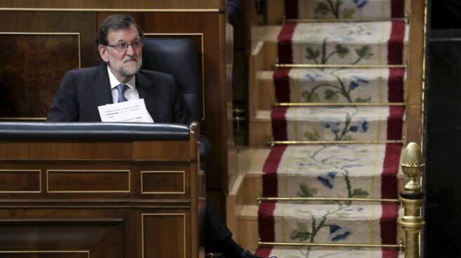 Rajoy, en una sesión de control del Congreso.