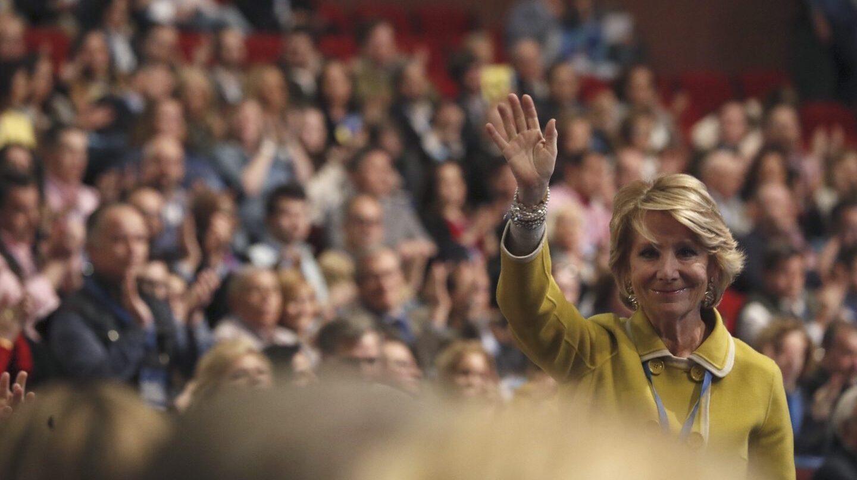 speranza Aguirre, en el Congreso del PP que ha elegido como presidenta del partido en Madrid a Cristina Cifuentes.