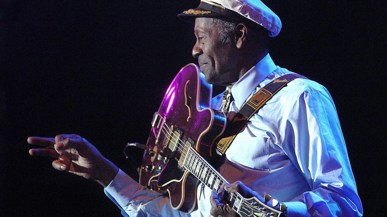 Chuck Berry, durante un concierto en Bilbao.