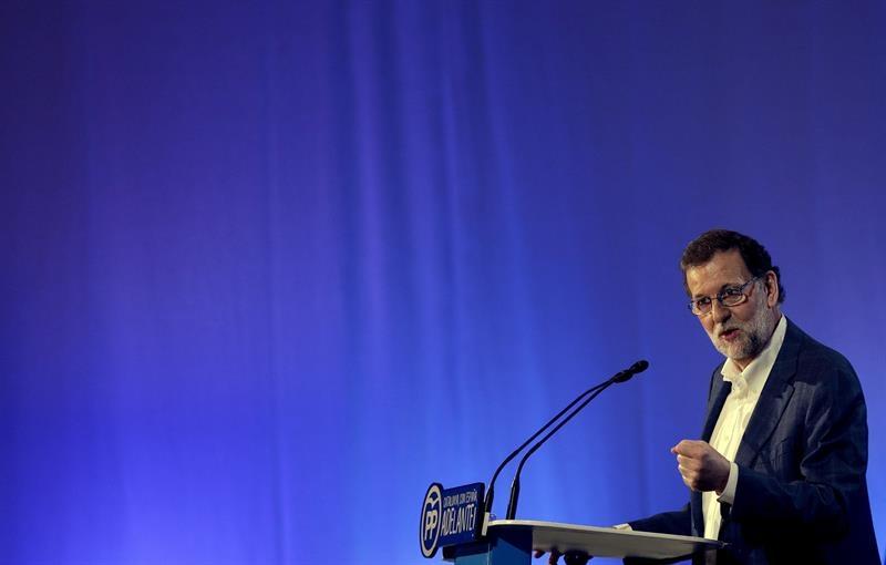 Mariano Rajoy, durante su visita a Cataluña.