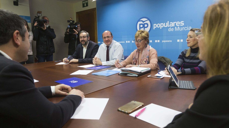 Pedro Antonio Sánchez, en la Ejecutiva del PP de Murcia.