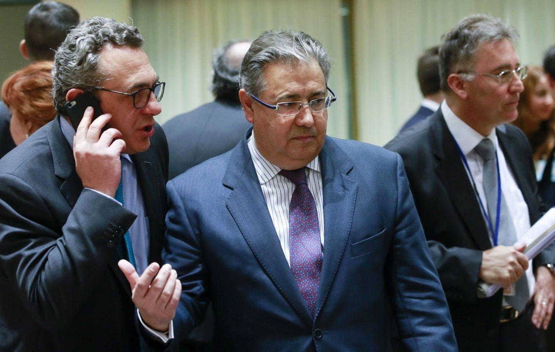 El ministro del Interior, Juan Ignacio Zoido, este lunes en Bruselas.