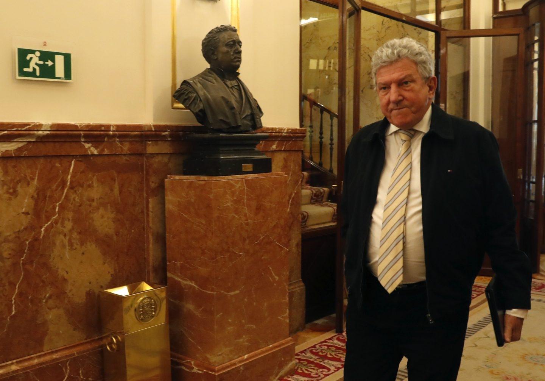 El diputado de Nueva Canarias Pedro Quevedo, en el Congreso.