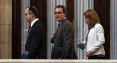 El ex president Artur Mas, antes de comparecer.
