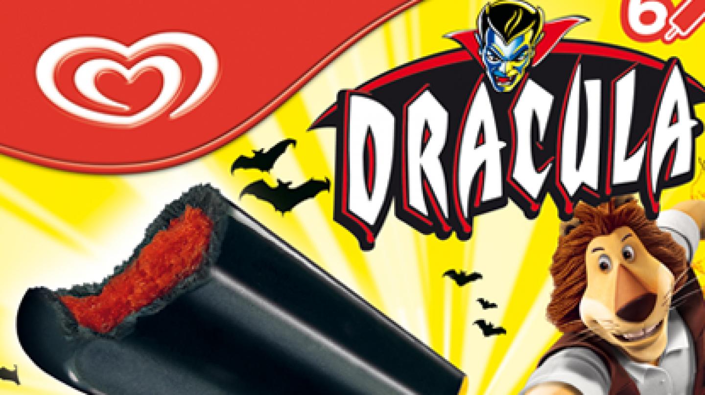 Publicidad de los helados Drácula, de Frigo.