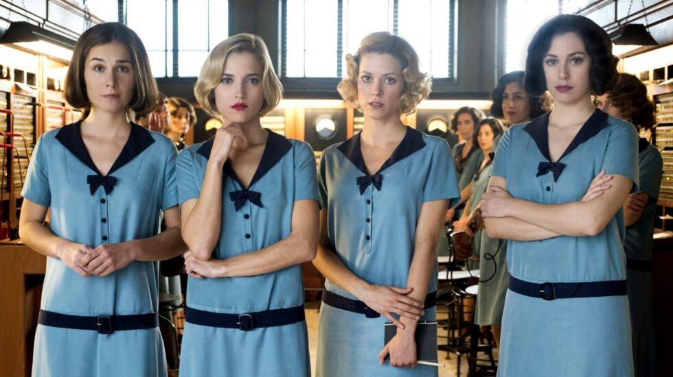 Las cuatro protagonistas de Las Chicas del Cable, la serie de Netflix.