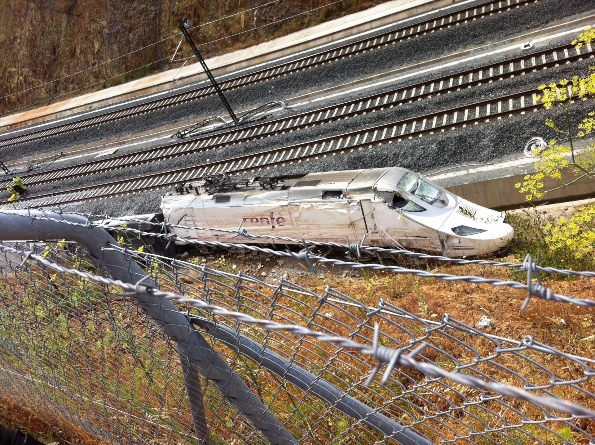 Tren Alvia accidentado en Angrois, en el que murieron 80 personas.