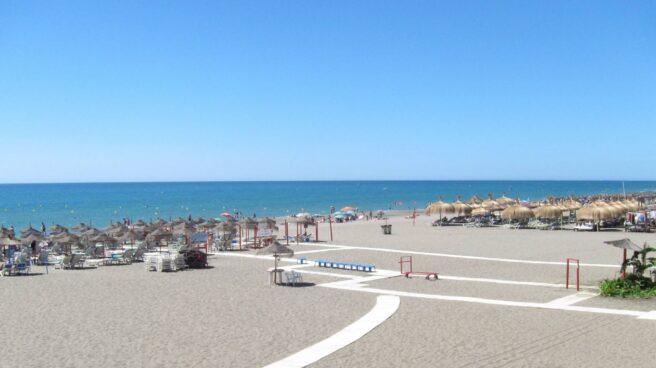 Playa de Torremolinos.