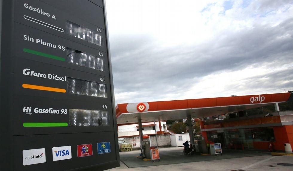 Una gasolinera en Galicia.