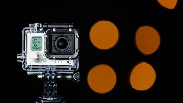 Una de las cámaras de Go Pro.