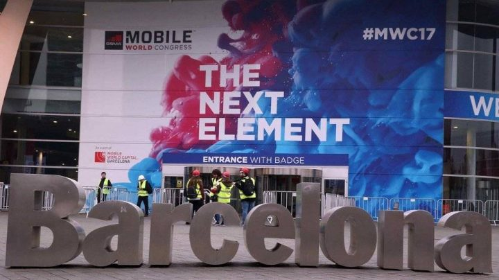 Entrada principal del Mobile World Congress de Barcelona.