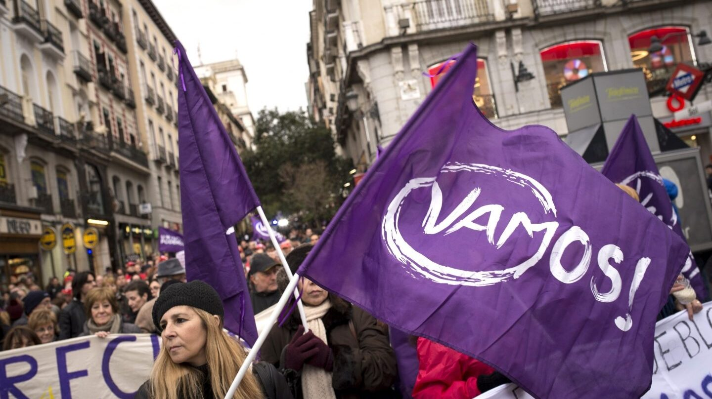 Manifestación de Podemos en Madrid.