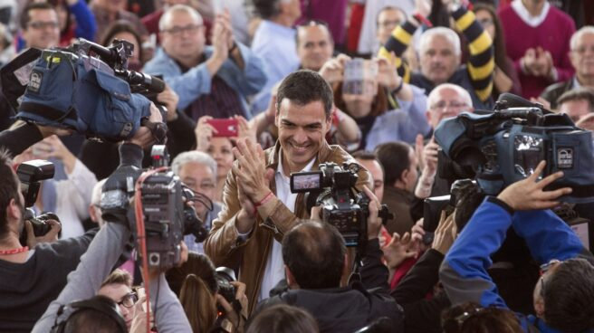 Pedro Sánchez, en su acto en Valencia.