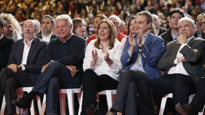 Rubalcaba, Felipe González, Susana Díaz, Zapatero y Guerra.