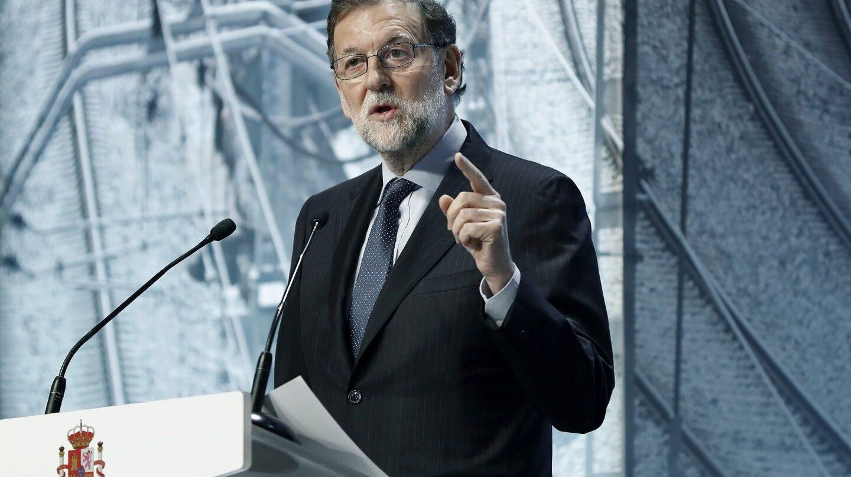 Rajoy, este martes, durante la presentación de las inversiones en Cataluña.