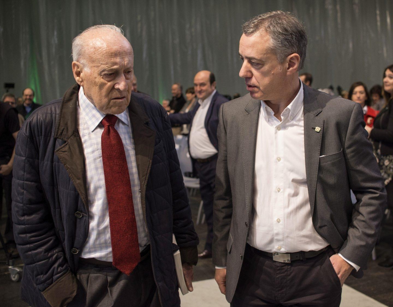 Xabier Arzallus e Iñigo Urkullu.