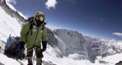 Alex Txikon durante el ascenso