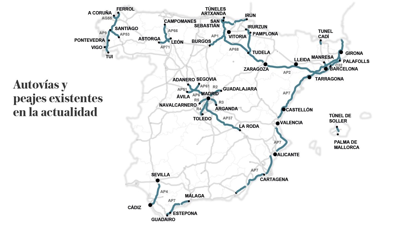 Autovías y peajes en España