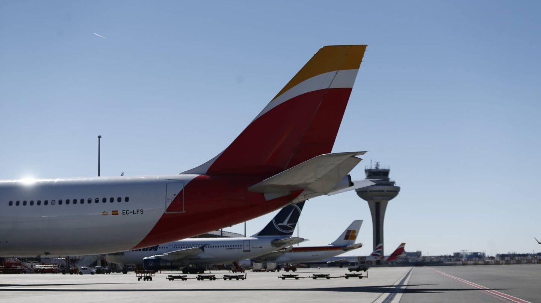 Torre de control del aeropuerto de Madrid-Barajas.