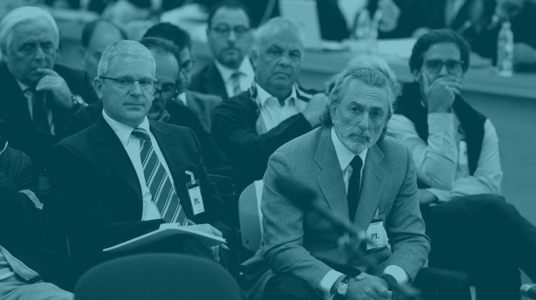 Francisco Correa y Pablo Crespo, durante el juicio de Gürtel.